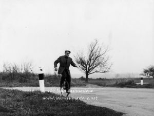 Man on a Unicycle, Somewhere in France, 1967