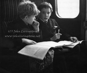 Two Young Gents on a Commuter Train from London to Esher, 1971