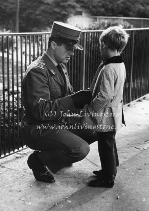 A Swiss Soldier Cares for his Son